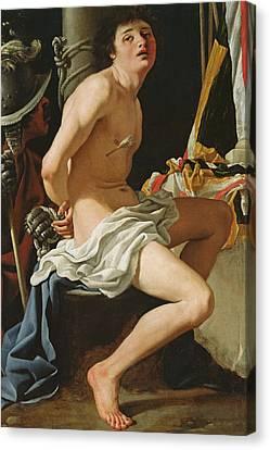 Punishment Canvas Print - Martyrdom Of St Sebastian by Bartolomeo Schedoni