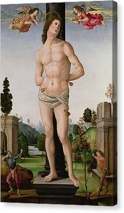 Martyr Canvas Print - Martyrdom Of St. Sebastian, C.1490-95 by Tommaso di Piero