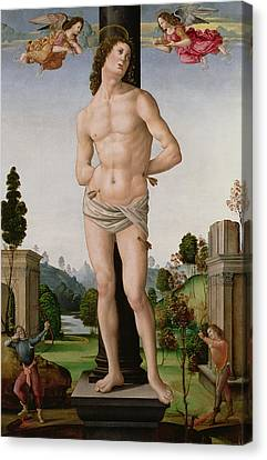 Martyrdom Of St. Sebastian, C.1490-95 Canvas Print by Tommaso di Piero