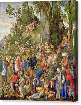 Martyrdom Of The Ten Thousand, 1508 Canvas Print by Albrecht Durer or Duerer