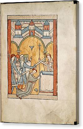 Martyrdom Of Thomas Becket Canvas Print by British Library