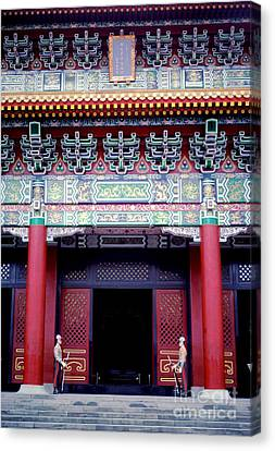 Martyrs' Shrine In Taipei Canvas Print by Anna Lisa Yoder