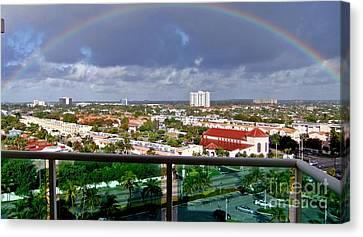 Marvelous Rainbow Canvas Print by Vic  Mastis