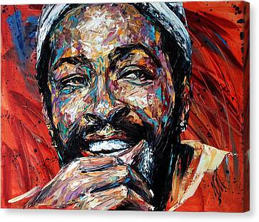 Marvin Gaye Canvas Print by Natasha  Mylius