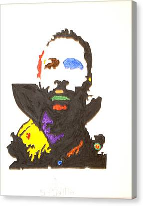 Canvas Print featuring the painting Marvin Gaye by Stormm Bradshaw