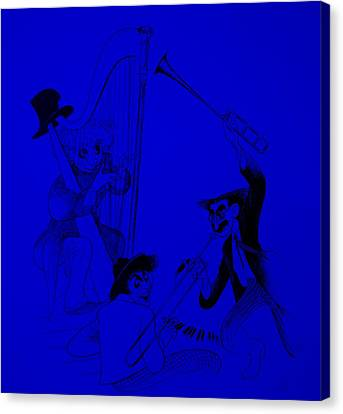 Marx Brothers Blue Canvas Print by Rob Hans