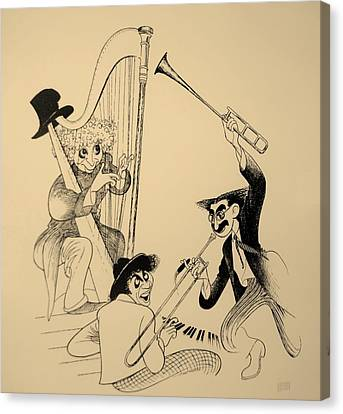 Marx Brothers Sepia Canvas Print by Rob Hans