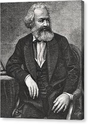 Marx Canvas Print by French School