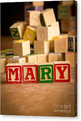 Mary - Alphabet Blocks Canvas Print by Edward Fielding