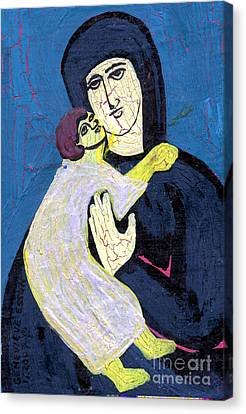 Mary And The Baby Jesus Canvas Print by Genevieve Esson