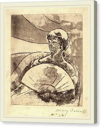 Mary Cassatt, In The Opera Box No. 3, American Canvas Print by Litz Collection