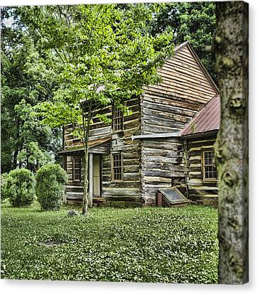 Log Cabins Canvas Print - Mary Dells House by Heather Applegate