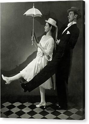 Mary Hay And Clifton Webb Dancing Canvas Print by Edward Steichen