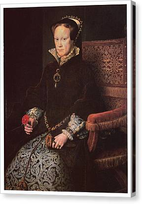Mary I Queen Of England Canvas Print by Antonis Mor