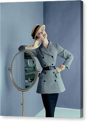 Mary Jane Russell Wearing A Wool Suit Canvas Print