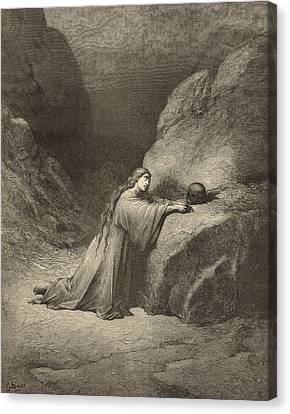 Mary Magdalene Canvas Print by Antique Engravings