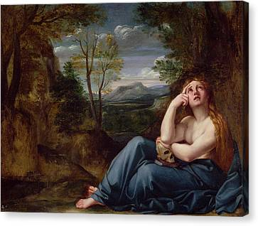Mary Magdalene In A Landscape, C.1599 Canvas Print by Annibale Carracci