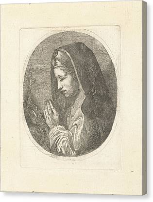 Mary Magdalene In Prayer, Louis Bernard Coclers Canvas Print