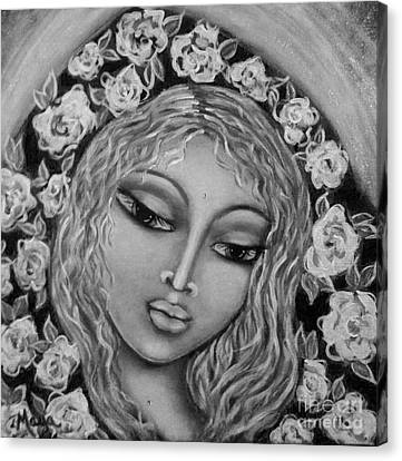 Mary Mary In Black And White Canvas Print by Maya Telford