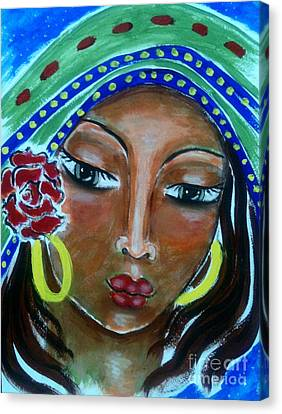 The Sacred Feminine Canvas Print - Mary Of Magdala by Maya Telford