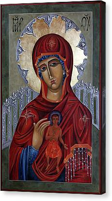 Mary Of The Burning Bush Canvas Print by Mary jane Miller