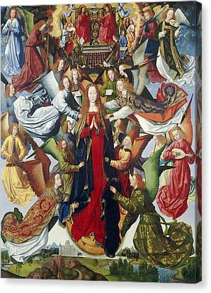 Mary, Queen Of Heaven, C. 1485- 1500 Oil On Panel Canvas Print by Master of the Legend of St. Lucy