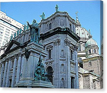 Mary Queen Of The World Cathedral - Side View In Hdr Canvas Print by Lingfai Leung