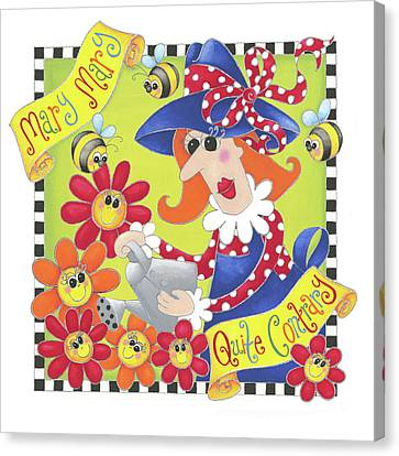 Mary Quite Contrary Canvas Print by P.s. Art Studios