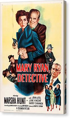 Mary Ryan, Detective, Us Poster Canvas Print by Everett