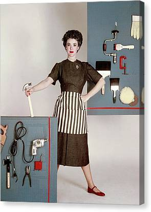 Mary Sinclair With Tools Canvas Print by Constantin Joff?