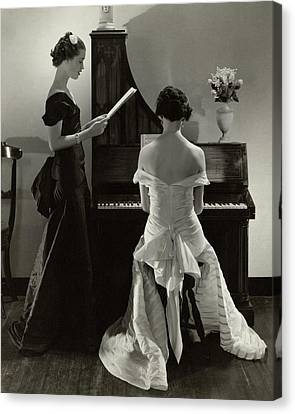 Mary Taylor And Mrs Robert H Mcadoo Canvas Print by Edward Steichen