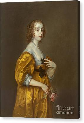 Mary Villiers Lady Herbert Of Shurland Canvas Print by Celestial Images