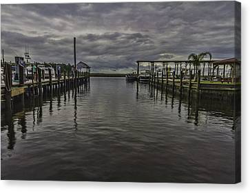 Mary Walker Marina - Stormy Skies Canvas Print by Brian Wright