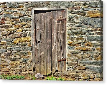 Maryland Country Roads - The Other Barn Door No. 2a - Carroll County Maryland Canvas Print by Michael Mazaika