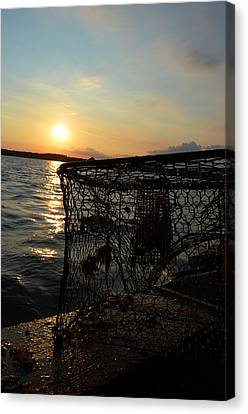 Maryland Crabber's Horizon Canvas Print