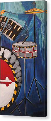 Maryland Drums Canvas Print by Kate Fortin