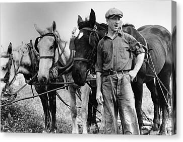 Maryland Farmer, 1940 Canvas Print by Granger