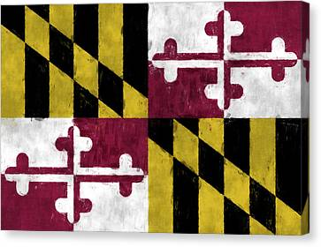 Flags Canvas Print - Maryland Flag by World Art Prints And Designs