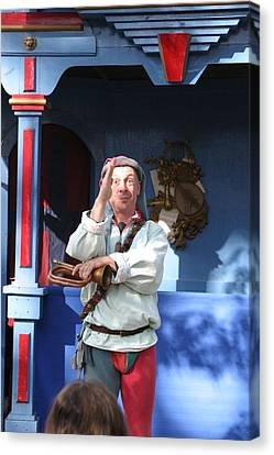 Artist Canvas Print - Maryland Renaissance Festival - A Fool Named O - 12125 by DC Photographer