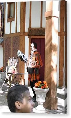 Maryland Renaissance Festival - Johnny Fox Sword Swallower - 121210 Canvas Print by DC Photographer