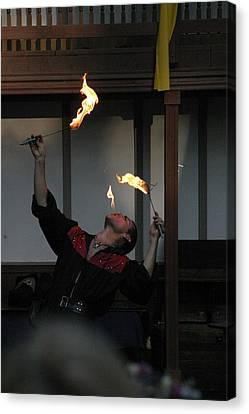Maryland Renaissance Festival - Johnny Fox Sword Swallower - 1212102 Canvas Print by DC Photographer