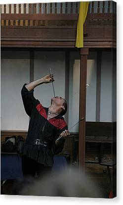 Maryland Renaissance Festival - Johnny Fox Sword Swallower - 1212108 Canvas Print by DC Photographer