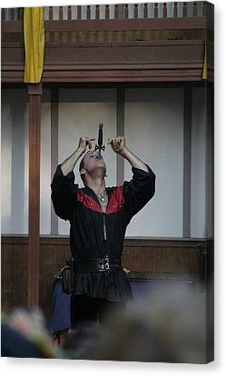 Maryland Renaissance Festival - Johnny Fox Sword Swallower - 1212109 Canvas Print by DC Photographer