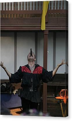 Maryland Renaissance Festival - Johnny Fox Sword Swallower - 1212112 Canvas Print by DC Photographer