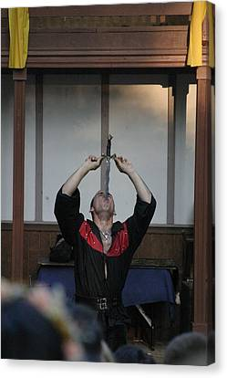 Maryland Renaissance Festival - Johnny Fox Sword Swallower - 1212124 Canvas Print by DC Photographer