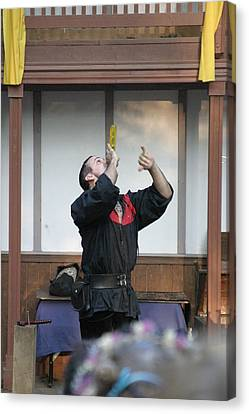 Maryland Renaissance Festival - Johnny Fox Sword Swallower - 1212126 Canvas Print by DC Photographer