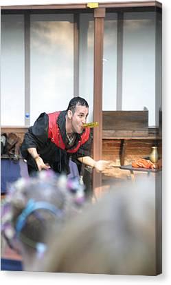 Maryland Renaissance Festival - Johnny Fox Sword Swallower - 1212127 Canvas Print by DC Photographer