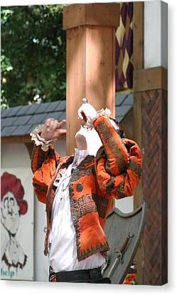 Medieval Canvas Print - Maryland Renaissance Festival - Johnny Fox Sword Swallower - 121215 by DC Photographer