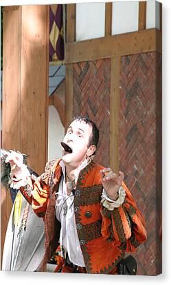 Maryland Renaissance Festival - Johnny Fox Sword Swallower - 121220 Canvas Print by DC Photographer