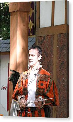 Maryland Renaissance Festival - Johnny Fox Sword Swallower - 121227 Canvas Print by DC Photographer